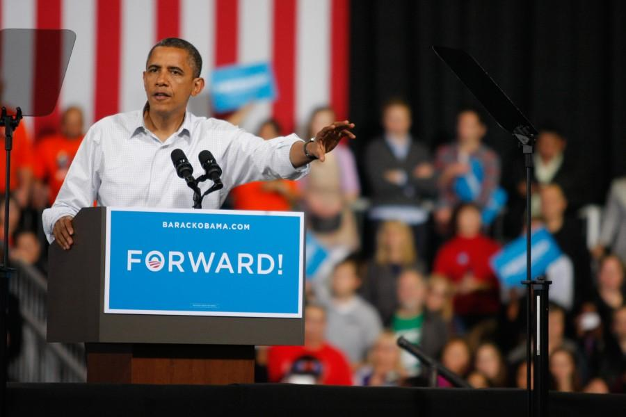 Obama and Katy Perry rally in Milwaukee
