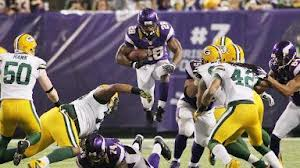 Adrian Peterson will look to run for 200 yards against the Packers for the third time this season. Courtesy of ESPN.com