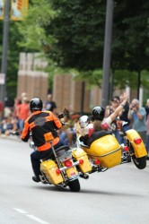 Harley-Davidson bikers ride in last year's rally parade. Photo by Vale Cardenas/ valeria.cardenas@mu.edu