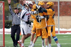 Lacrosse dominant in 12-6 win over Detroit
