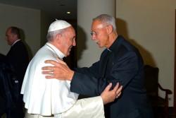 John Schlegel celebrates mass with Pope Francis