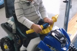 Offering wheels to disabled children
