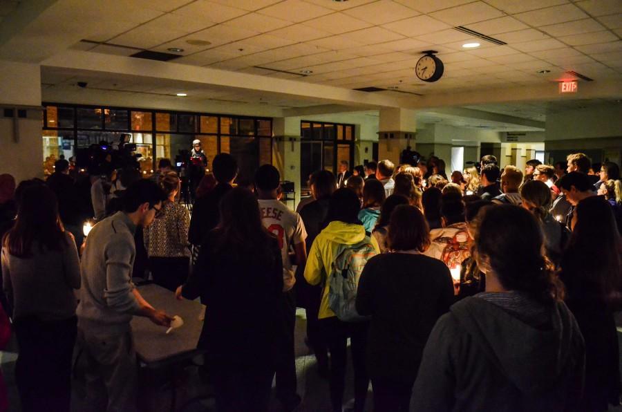 Muslim Student Association hosts vigil for Paris, Beirut, Bangladesh, Kenya attack victims