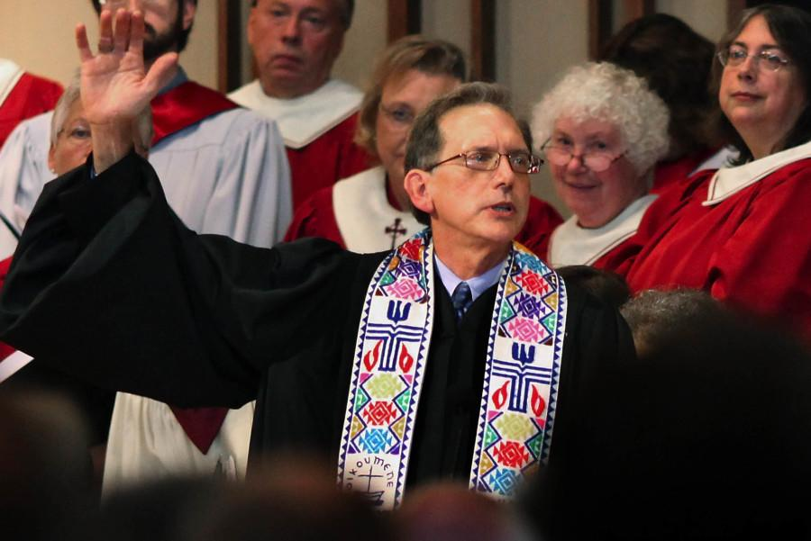 Openly gay the Rev. Scott Anderson was re-ordained by the Presbyterian Church in Madison, Wis. on Saturday, Oct. 8. Photo by Craig Schreiner/Associated Press.