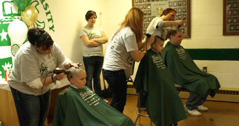 Brave students go bald for St. Baldrick's Foundation event
