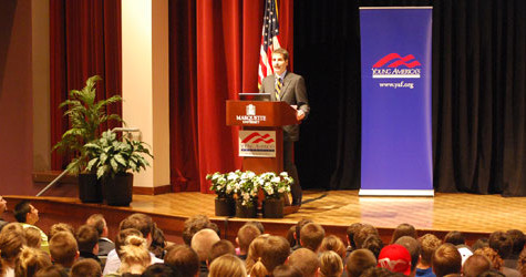 Anchor and author John Stossel entertains with political discussion