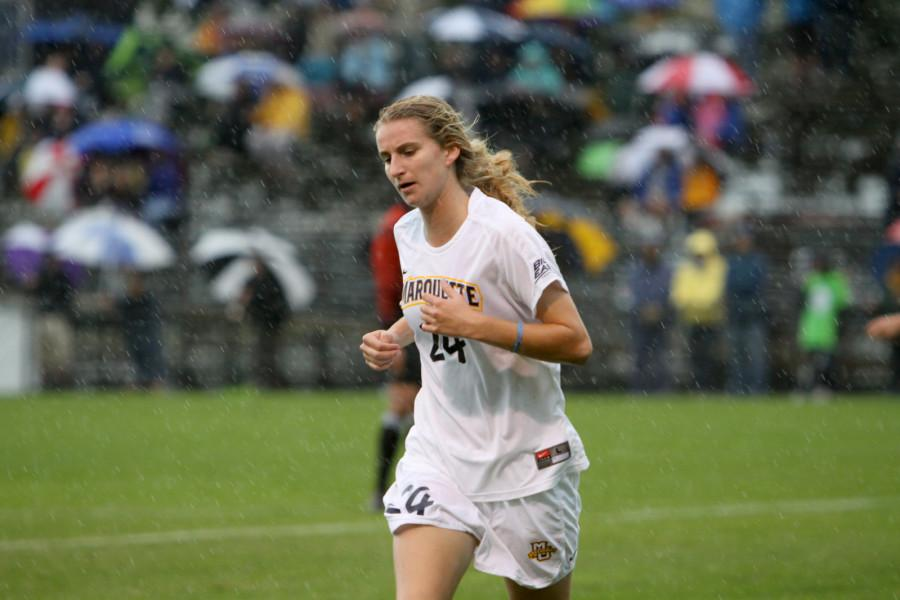 Sophomore midfielder Mary Luba has proven to be a weapon off the bench for Marquette so far this season.