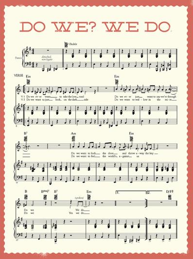 An example of Beck's sheet music album. Photo via McSweeney's Publishing