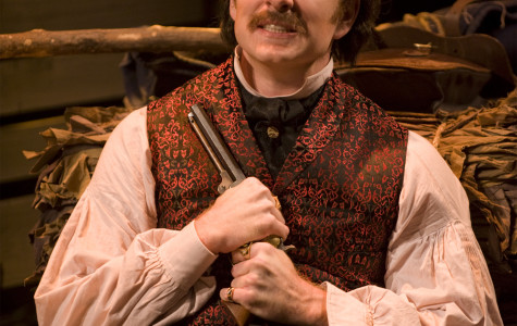 Adam Monley plays John Wilkes Booth, just one of the many assassins portrayed in the Rep's latest musical. Photo courtesy of Cindy Moran.