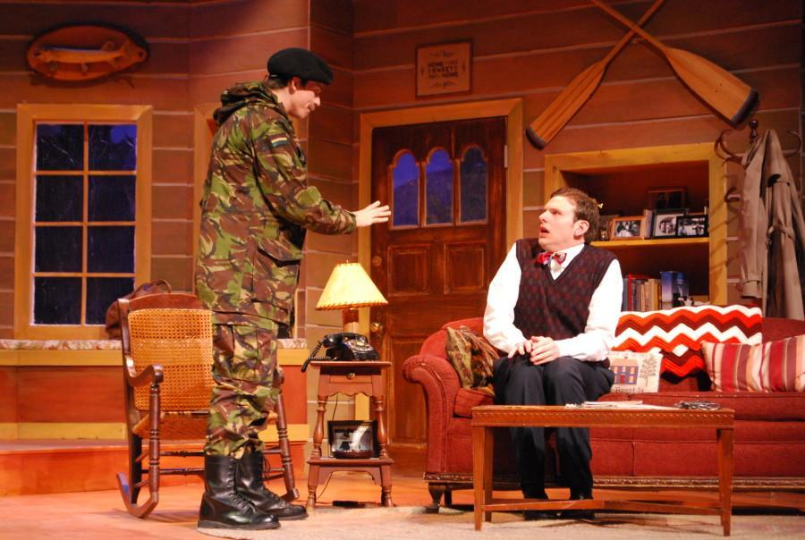 Ben Braun (left) and Chris O'Reilly (right) star in the Helfaer Theatre's latest production,