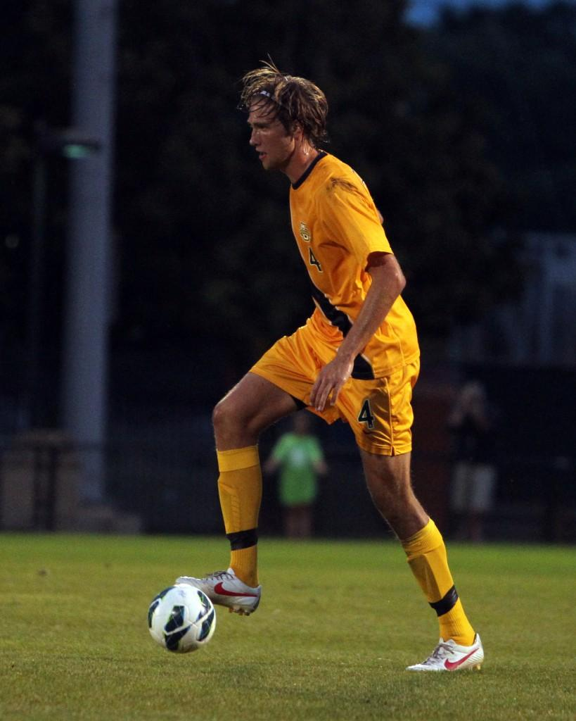Axel Sjoberg scored Marquettes only goal in a 3-1 loss to Notre Dame Wednesday night. Photo courtesy of Marquette Athletics.