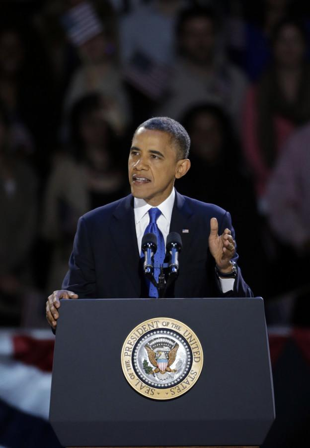 Obama wins second term through swing states
