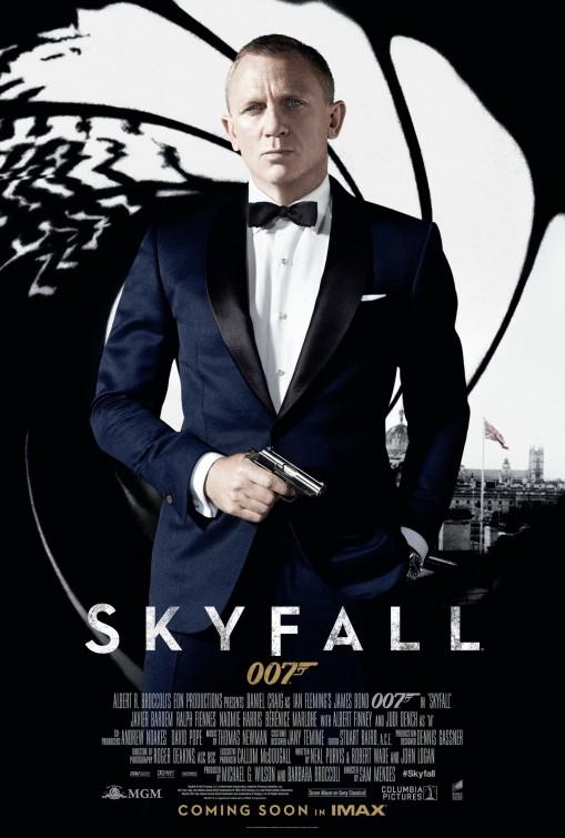 Bonds 23rd film, Skyfall, was released on November 9. Photo via impawards.com