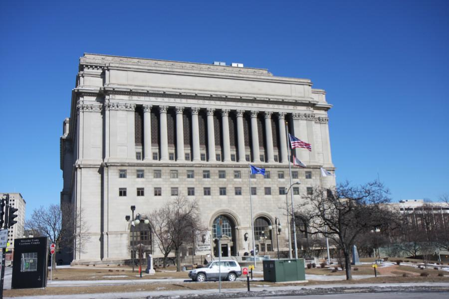 The Milwaukee County Courthouse located just east of campus.
