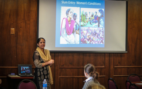Speaker discusses women's issues in India