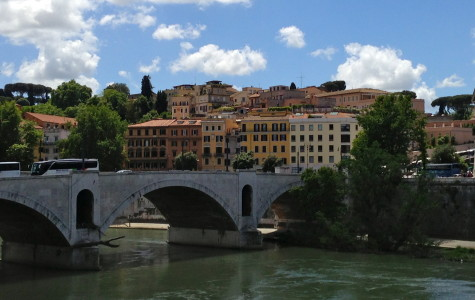 The banks of the Tiber River near John Cabot University's campus in Rome. Photo by Sarah Hauer / sarah.hauer@mu.edu