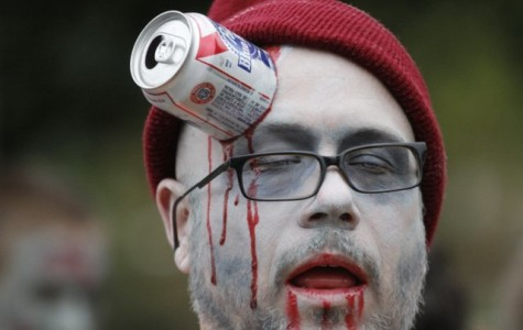 This man whould fit in well at the Zombie Apocolypse Charity Pub Crawl this weekend. Photo via www2.ljworld.com