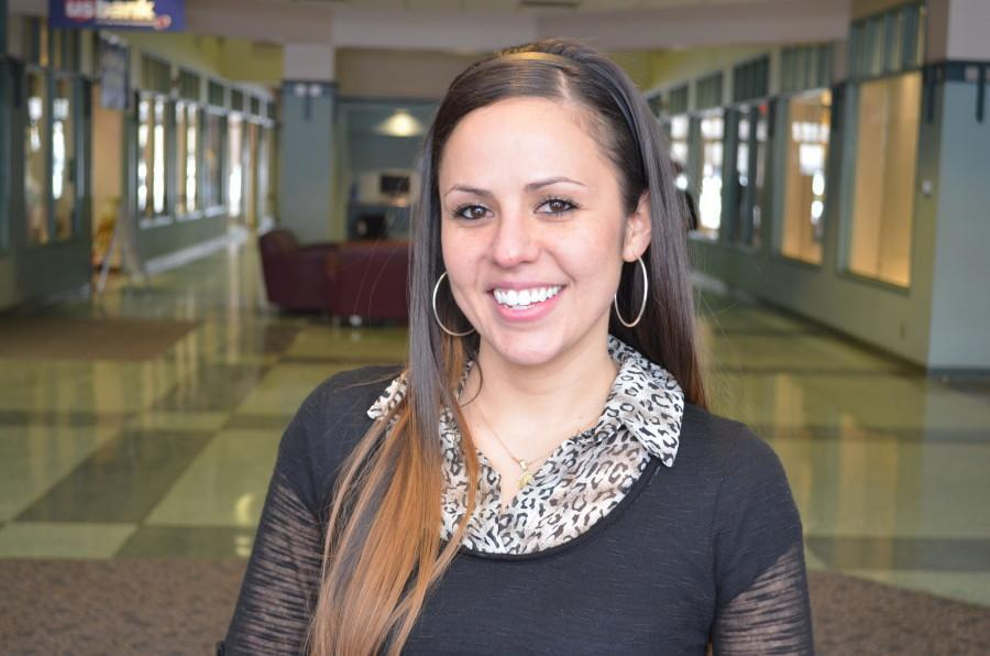Susan Avina, 28, a sophomore in the College of Business Administration