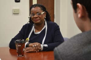 Rep. Gwen Moore (Wis-D) meets with The Marquette Tribune to discuss issues facing college students.