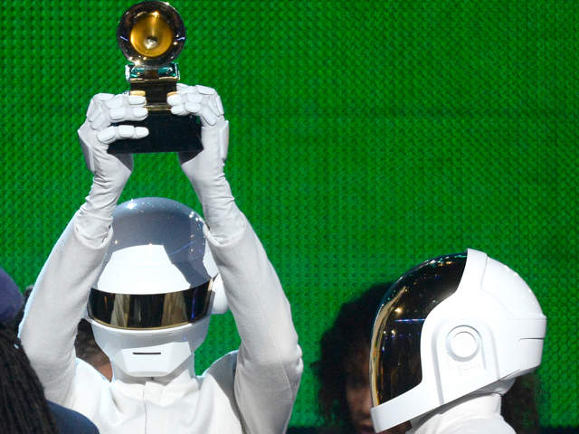 French electronica duo Daft Punk took home five trophies, including top honors for Album of the Year and Record of the Year, at the 56th Annual Grammy Awards.