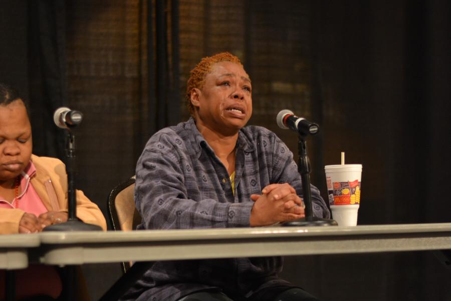 Roseann Marfitt shares her experiences with homelessness. Photo by Rebecca Rebholz / rebecca.rebholz@marquette.edu