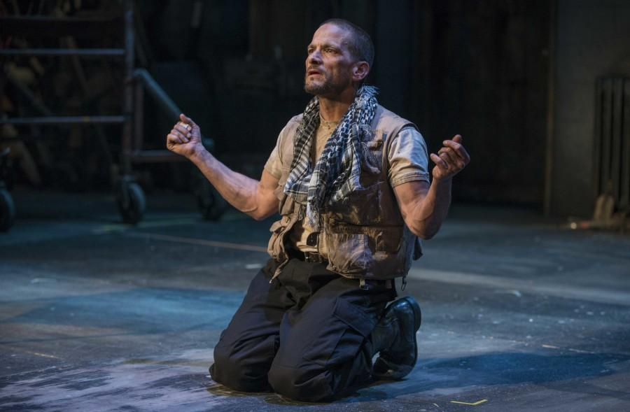 James DeVita as The Poet in Milwaukee Repertory Theaters  2013/2014 Quadracci Powerhouse production of An Iliad. Photo by Michael Brosilow. Courtesy of Cindy Moran.