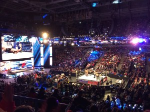 The WWE Smackdown stopped at the BMO Harris Bradley Center Tuesday night. Photo by Kevin Ward / kevin.ward@marquette.edu