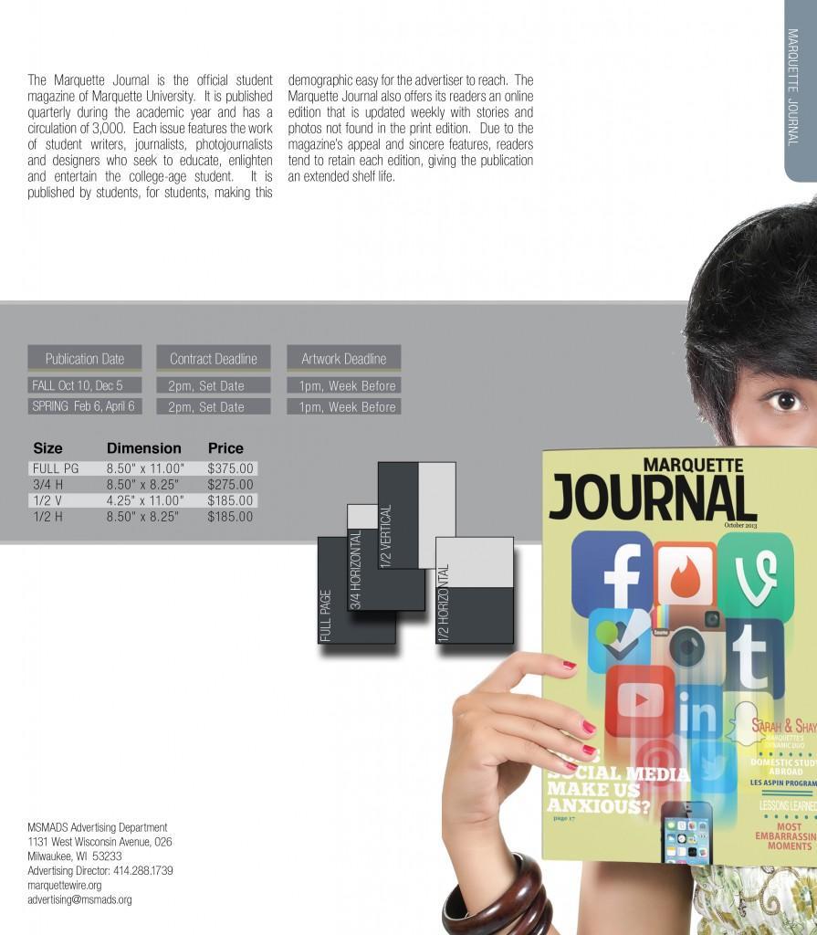 Journal Sizes & Rates