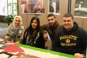 Members of Students for Justice in Palestine will host Marquette's first Israeli Apartheid Week this week.