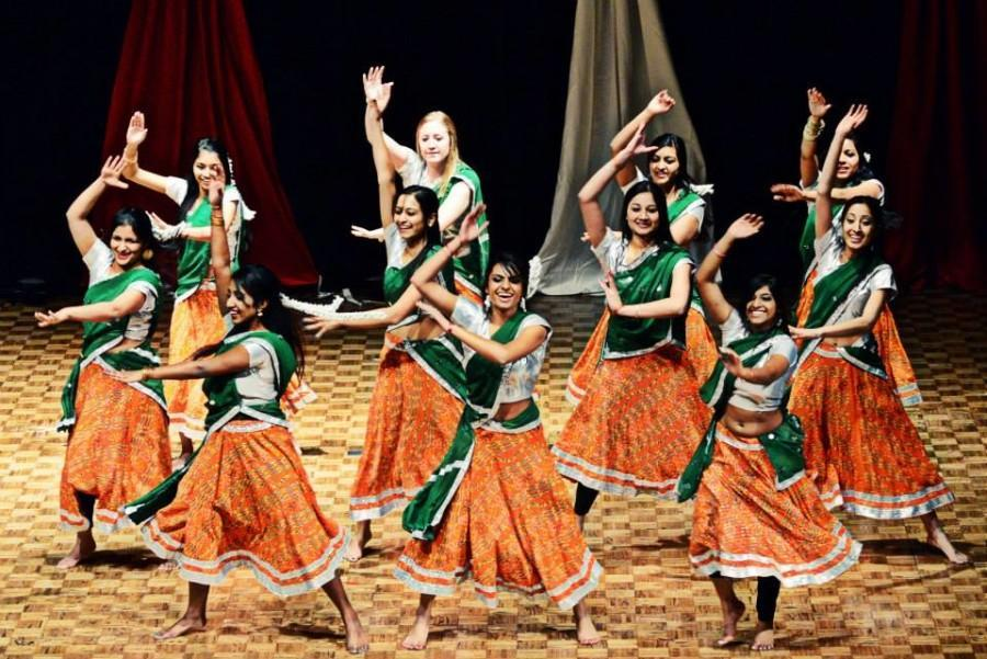 Dancers at the ISA show demonstrate traditional Indian choreography.  Photo by Anip Patel