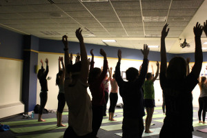 Mental Health Awareness Week featured a yoga meditation session in the Alumni Memorial Union.