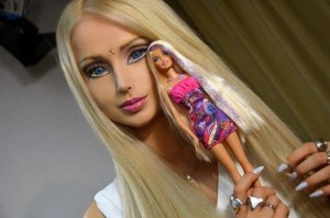 Valeria Lukyanova may literally look like a doll, but her beauty standards are far from perfect. Photo via nydailynews.com
