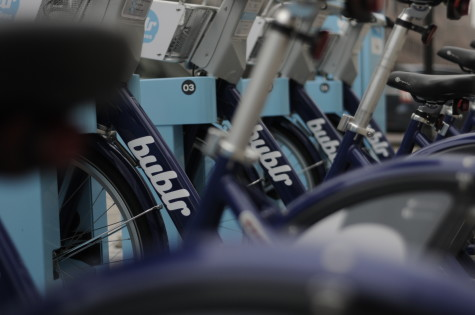 Bublr bikes give Milwaukee residents a new mode of transportation around the city. Photo by Cassie Rogala/cassie.rogala@marquette.edu