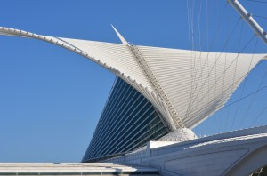 Santiago Calatrava's architecture makes the Milwaukee Art Museum one of Milwaukee's most notable buildings. Photo by Claire Nowak/claire.nowak@marquette.edu