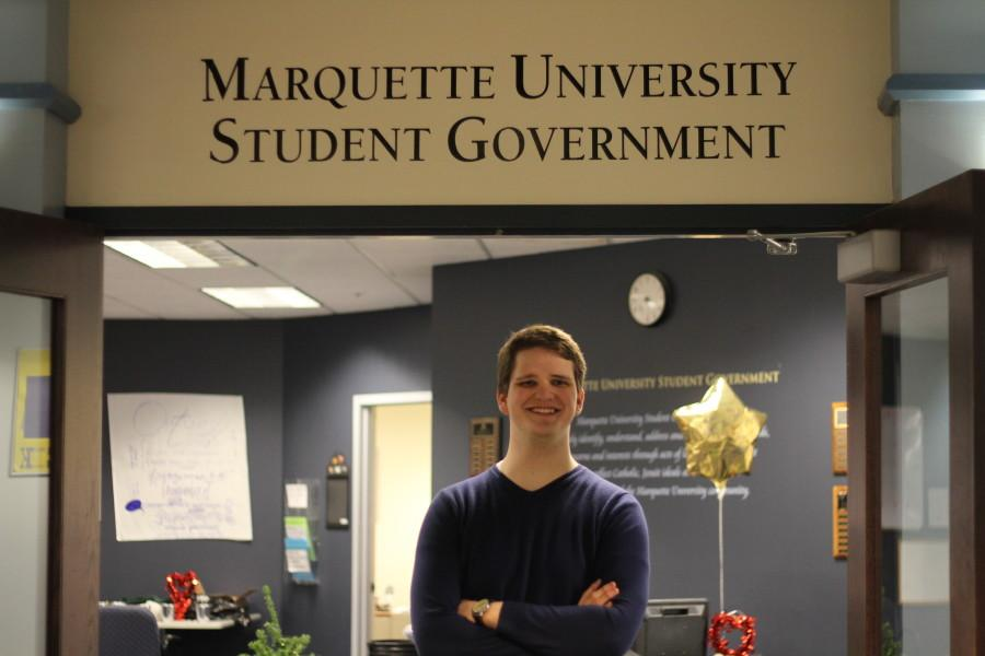 Marquette+Student+Government+President+Kyle+Whelton+said+he+would+like+to+spend+the+Prior+Year+Reserve+Fund.