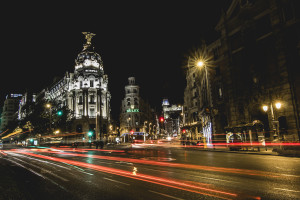 Madrid Metropolis Long Exposure