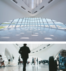 The production crew of Transformers: Dark of the Moon (2011) used the Milwaukee Art Museum's Quadracci Pavilion as the headquarters of the film's billionaire antagonist (Patrick Dempsey).