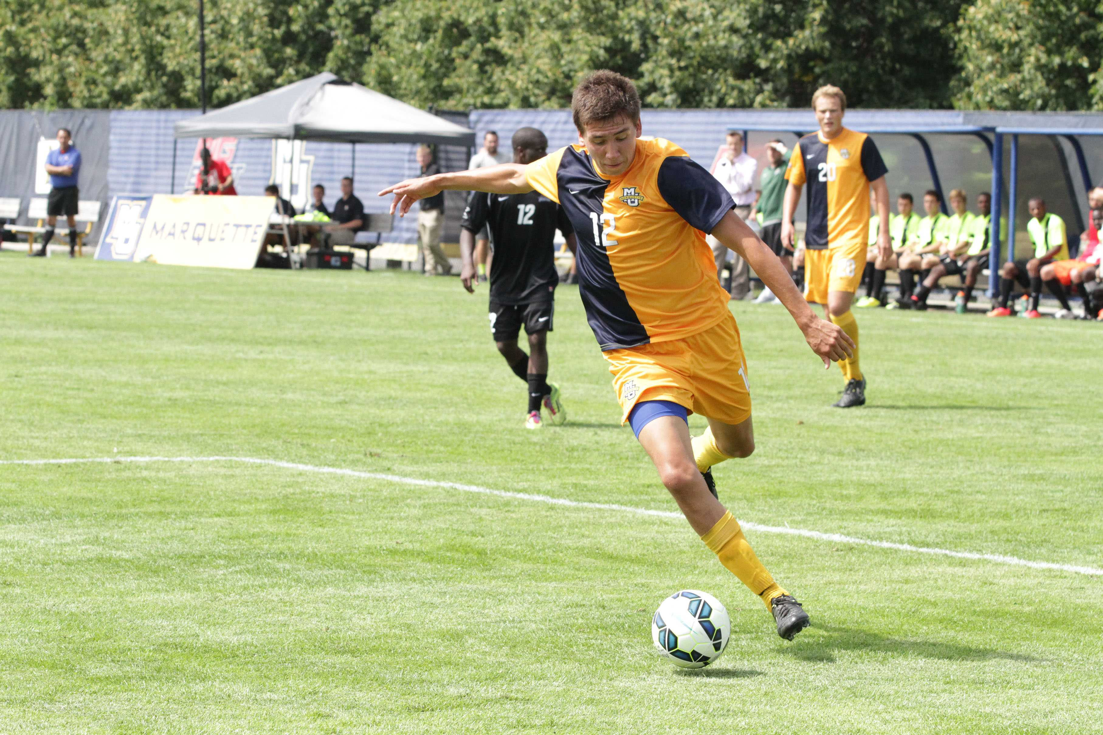 Alex McBride scored his first goal of the season in the 31st minute. Photo by Valeria Cardenas.