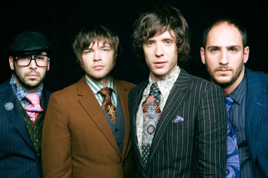 Bassist Nick Thune (far left) says the group still plays with an alternative edge on its new album. Photo via nerdiest.com