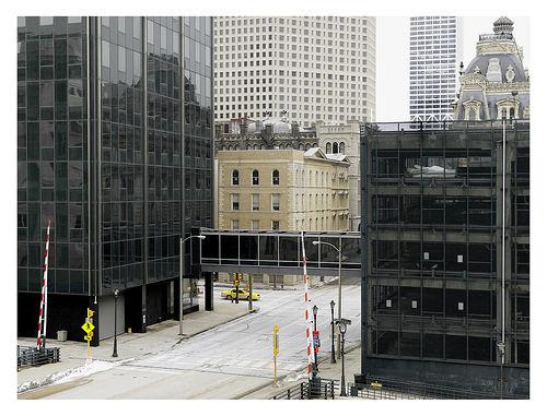 Donovan Wylie shows downtown Milwaukee from a bird's eye view. Photo courtesy of Kristin Settle