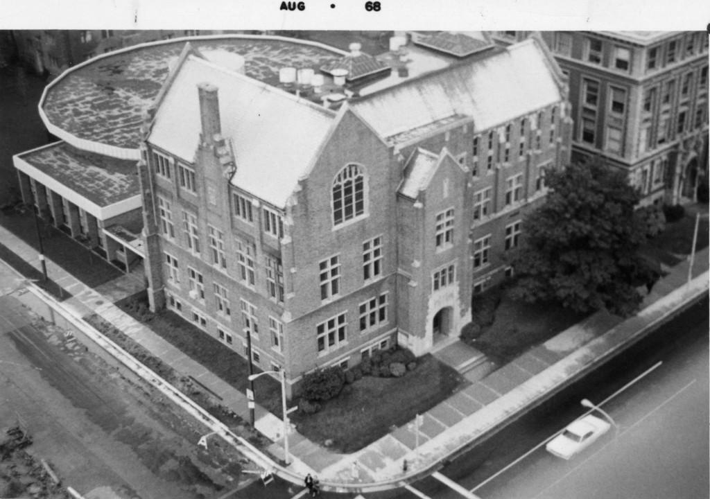 Aerial_view_of_Sensenbrenner_Hall_taken_from_the_northeast_corner_of_the_building_1968