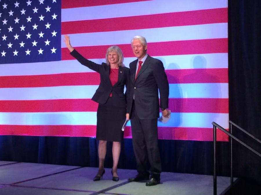 Former President Clinton campaigns for Burke in MKE