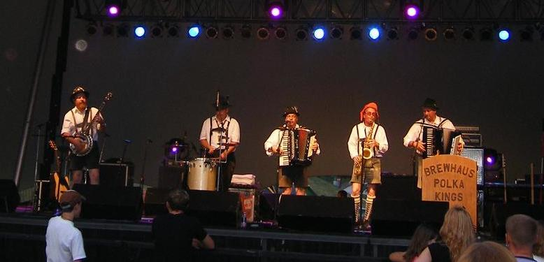 The Brewhaus Polka Kings will perform at 12:30 p.m. on Friday as part of MKE Octoberfest. Photo via mkeoctoberfest.com