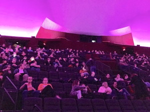 "The audience awaits the showing of ""2001: A Space Odyssey"" in MPM's Dome Theater."