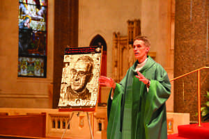 The Rev. Matthew Walsh discusses the work of Oscar Romero, who served as archbishop of San Salvador until he was assassinated in 1980. Walsh celebrated Gesu's third Spanish mass in November.