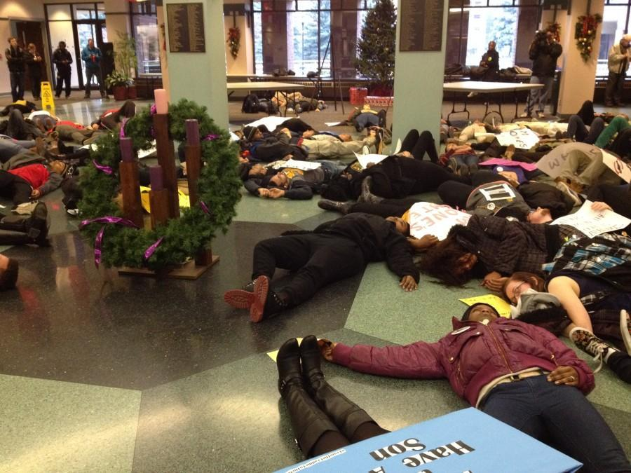 Students conduct Solidarity 'Die In'