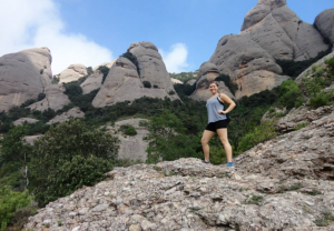 During her stay in Spain, junior Rachel Krenik went hiking with her new friends at Montserrat Mountain. Photo courtesy of Rachel Krenik