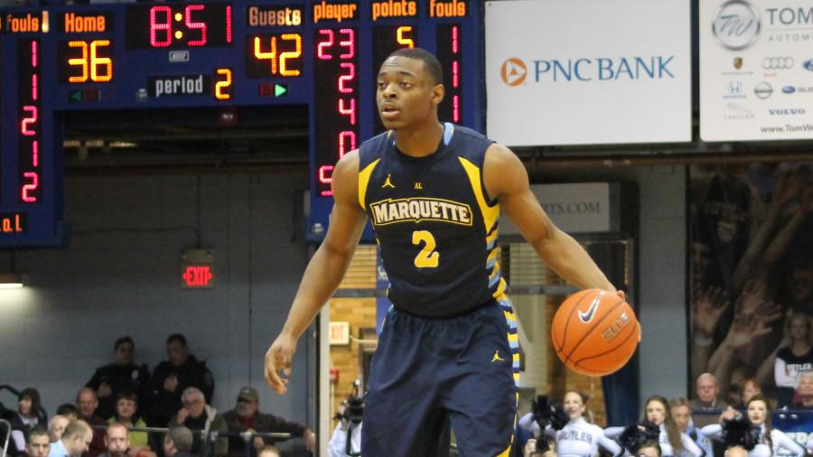 Sophomore guard John Dawson is transferring from Marquette to Liberty University. (Photo by Mike Cianciolo/michael.cianciolo@marquette.edu)