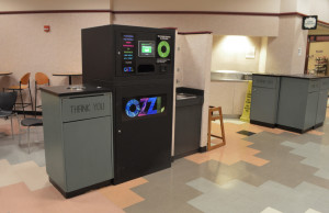 The Ozzi machines were installed in the Alumni Memorial Union and Schroeder Hall to promote sustainability in the dining halls.