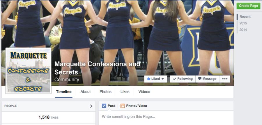 Marquette Confessions page produces positives, negatives